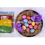 DECORATING AND COLORING EASTER EGGS WITH RICE