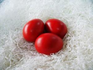 Црвени јајца